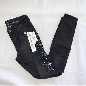 New Versace Embroidered Skinny Jeans Abbigliamento